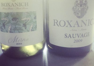 Local wines from Roxanich Winery, Motovun, Istria - a renovated boutique hotel with a winery, about 10 kms from Zrenj