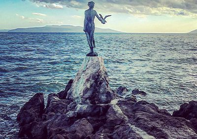 The Maiden with the Seagull, Lungomare Promenade, Kvarner Bay, Opatija