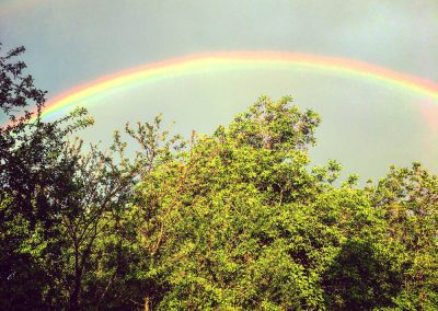 Double rainbow - arcobelano - over our property for sale in Zrenj, Istria
